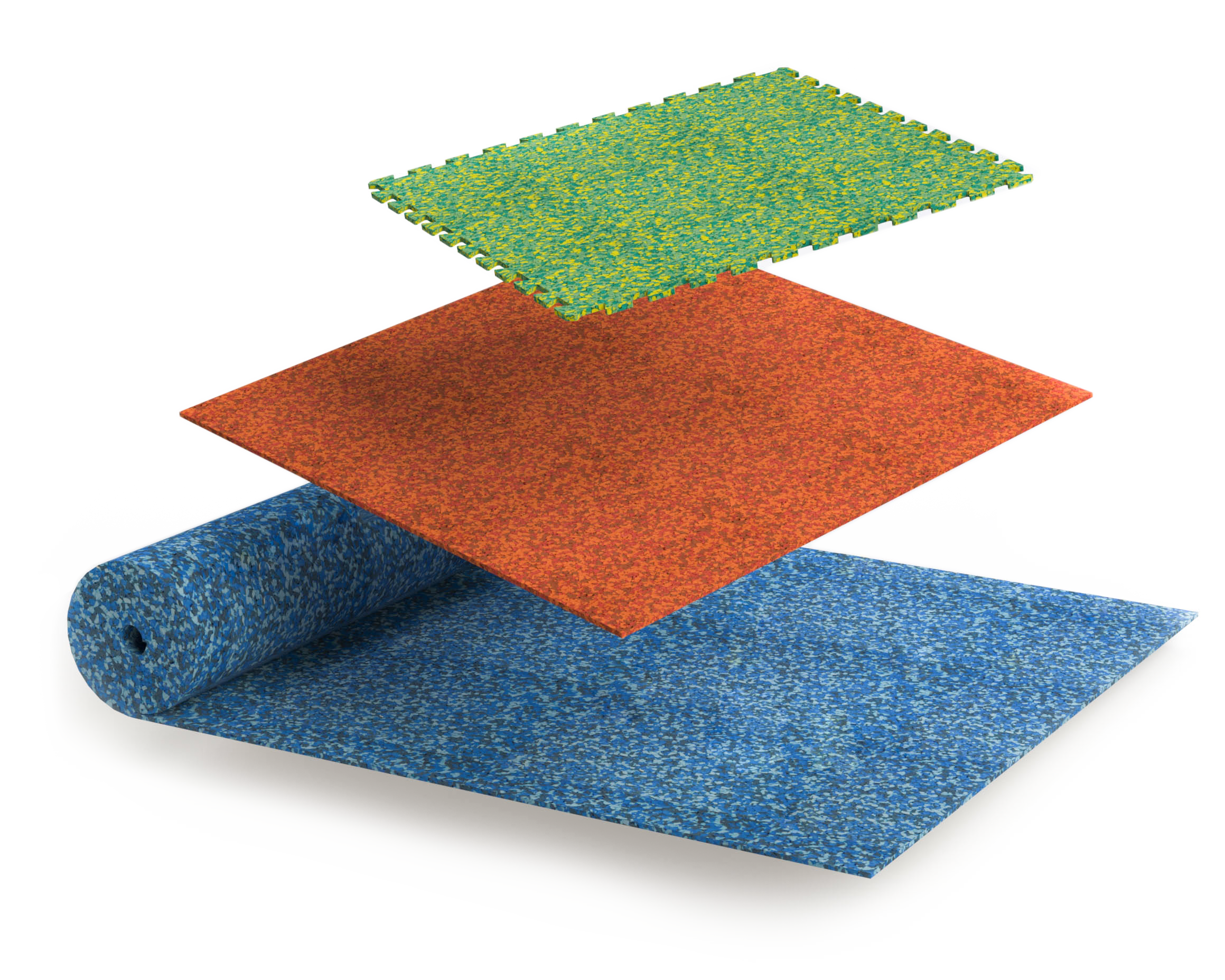 Pliteq TREAD Grip and TREAD Cushion in tile, puzzle and roll good format comes in various customizable colour options